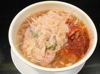 「ラーメン カラメ+脂マシマシ+唐辛子マシマシ」@麺や 希 御徒町店の写真