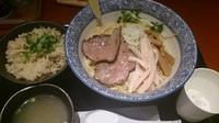 「サクマ式牡蠣の油そば(680円)+牡蠣ご飯(200円)」@麺屋 一燈 ラゾーナ川崎店の写真