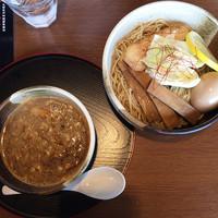 「海老つけめん+味玉(クーポン)」@ゆいが 総本店の写真