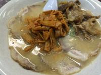 「チャーシュー麺+メンマ+牛スジ」@博多長浜らーめん みよしの写真