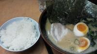 「味玉ラーメン(770円)+半ライス(100円)」@濃厚豚骨ラーメン こく丸の写真