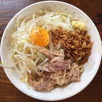 「汁なし麺」@麺とび 六方 松本信大前店の写真