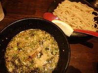 「味玉塩つけめん(250g)(930円)水餃子・ごはんセット」@中華蕎麦 奨 津田店の写真