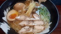 「ひしおの生姜+サービス味玉=700円」@こくまろ鶏らーめん 久久の写真
