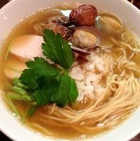 「【夜限定】鶏とあさりと煮干し」@つけめん・らーめん活龍の写真