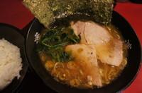 「黒ラーメン(650円)無料ライス」@濱家の写真