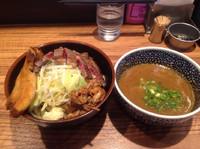 「つけ麺➕ステーキ」@ラーメン燈郎の写真