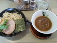 「濃厚魚介系つけ麺(L・300g)870円」@No One Style Cafeの写真