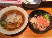 「限定  朝ラー定食煮豚三昧丼  918円」@らーめん芝浜の写真