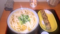 「ひやあつ・大+ちくわ天(500円+100円)」@純手打ち讃岐うどん 五郎の写真