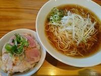 「朝らー定食(しょうゆ) ¥702」@らーめん芝浜の写真