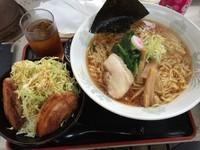 「Aセット(しょうゆラーメン+あぶりチャーシュー丼小等)+大盛」@麺屋 はな亭の写真