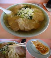 「『チャーシューメン+餃子(¥730+370)』」@とんぼの写真