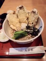 「牡蛎天ぶっかけ1,100円」@そば処 太宝家の写真