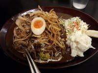 「黒い肉カレー(大盛同料金・①④⑩)」@カレーは飲み物。秋葉原店の写真