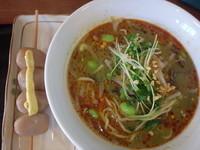 「ずんだ担々麺(780円)、玉こんにゃく(120円)」@福龍 古関PA下り店の写真