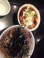 「温かい鶏そば大盛り【970円】」@そば処 港屋MINATOYAの写真
