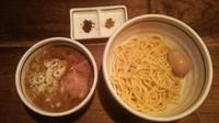 「つけ麺(地鶏の味玉付き)(あつもり)」@つけ麺 APPLE BASICの写真