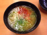 「鶏チャーシュー入り塩ラーメン」@スシロー 幕張店の写真