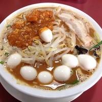 「旨からソバ(¥820)+うずらの味玉(¥100)」@ラーメン・つけ麺 モトヤマ55の写真