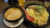 「カレーつけ麺(920円) + ビール(値段失念)」@麺屋 五郎蔵の写真