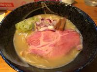 「鶏白湯そば756円  和え玉162円」@らーめん芝浜の写真