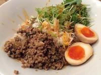 「汁なし坦々麺 大盛+サービス味玉」@麺屋 大申の写真