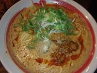 「口馬担々麺(853円)、からあげ3ヶ(クーポン)、替玉(10」@新・和歌山ラーメンばり馬 深川店の写真