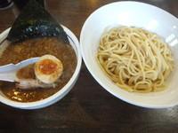 「つけ麺青(醤油ベース鰹)770円(9周年記念300円)」@こってりらーめん 誉の写真