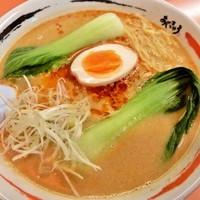 「担々麺+セット(ギョーザ)820円+280」@ラーメンショップAji-Q 磯鶏店の写真