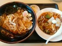 「Bセット(醤油ラーメン+中華丼)780円」@大龍の写真
