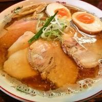 「煮干しそば+味玉&チャーシュー増し(1000円)」@らぁめん サンドの写真