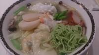 「海老ワンタンと海の幸ひすい麺(2,160円)」@銀座アスター ベルシーヌ大森の写真