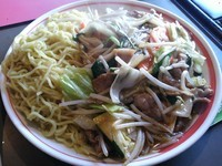 「あんかけ冷やし ※麺温かいバージョン (大盛り)」@中華レスト 破天荒の写真
