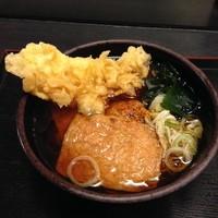 「きつね(¥330)+イカ天(クーポン)」@ゆで太郎 東邦医大通り店の写真