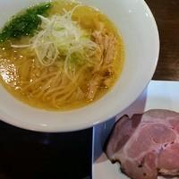 「【一周年記念限定】珠玉そば(塩・平打ち麺)650円」@麺や 虎徹の写真