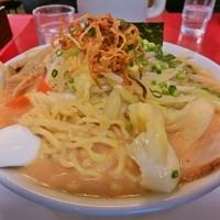 「味噌中華そば+たっぷり野菜(680円+150円)」@日和田製麺所の写真