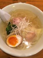 「鶏塩海老わんたん麺900円」@麺や 藤井の写真