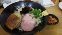 「餡かけ揚げ蕎麦S+明太子飯」@MENYA 食い味の道有楽の写真