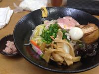 「睦月の一杯 餡掛け揚げ蕎麦S」@MENYA 食い味の道有楽の写真