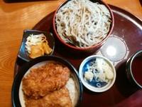 「ミニソースカツ丼小そばのペア799円」@海山亭いっちょう 富岡店の写真