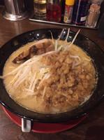 「ジパング麺  野菜少なめ  アブラ多め」@ジパング軒 宇都宮駒生店の写真