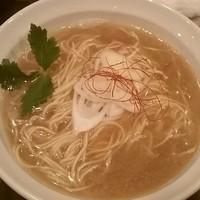 「【限定】金目鯛一夜干し蕎麦(肉無し)800円」@灰汁中華 丿貫の写真