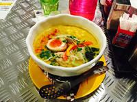 「豆乳カレーラーメン 900円」@Curry & noodle LODEKKAの写真
