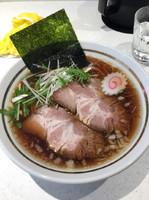 「醤油ラーメン大盛800円+半チャーハン250円」@砂流の写真