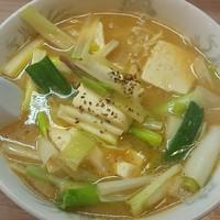 「味噌豆腐ラーメン 800円」@天下一らーめんの写真