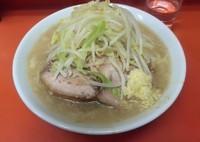 「小ラーメン(麺半分・野菜少なめ・にんにく)」@ラーメン二郎 神田神保町店の写真