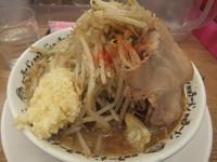 「野郎ラーメン730円(麺硬め、味濃いめ、ニンニク)」@野郎ラーメン 浅草橋店の写真