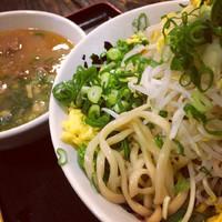 「ネギモヤシつけ麺大盛@800」@うだつ食堂の写真