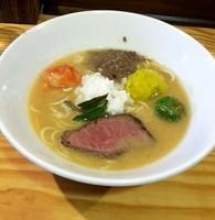 「ジビエのスープ味噌仕立て冬野菜をそえて @900円(限定)」@らーめん侘助の写真